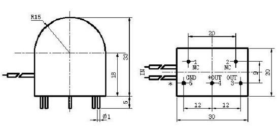 检测用电压输出型电流变换器13